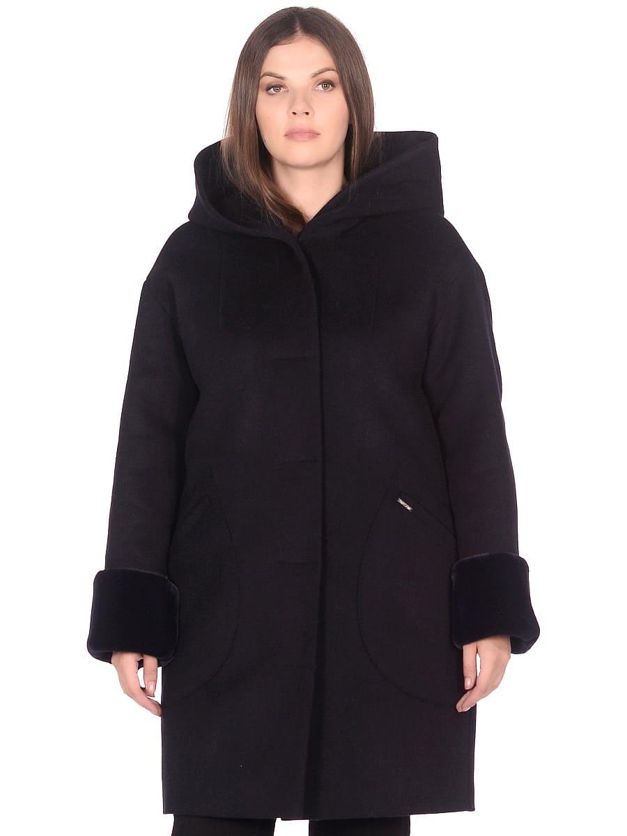Женское зимнее пальто hr-1012 синее фото-2