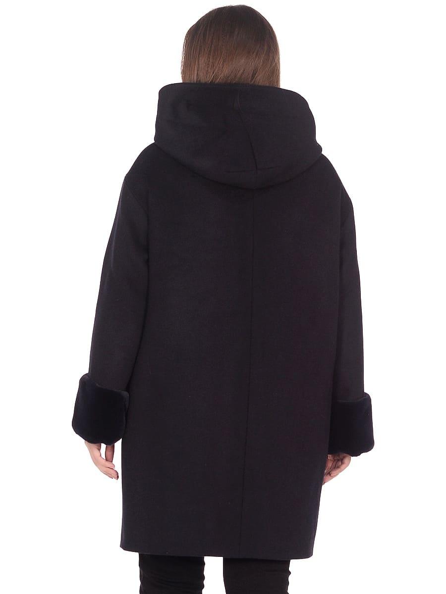Женское зимнее пальто hr-1012 синее фото-3
