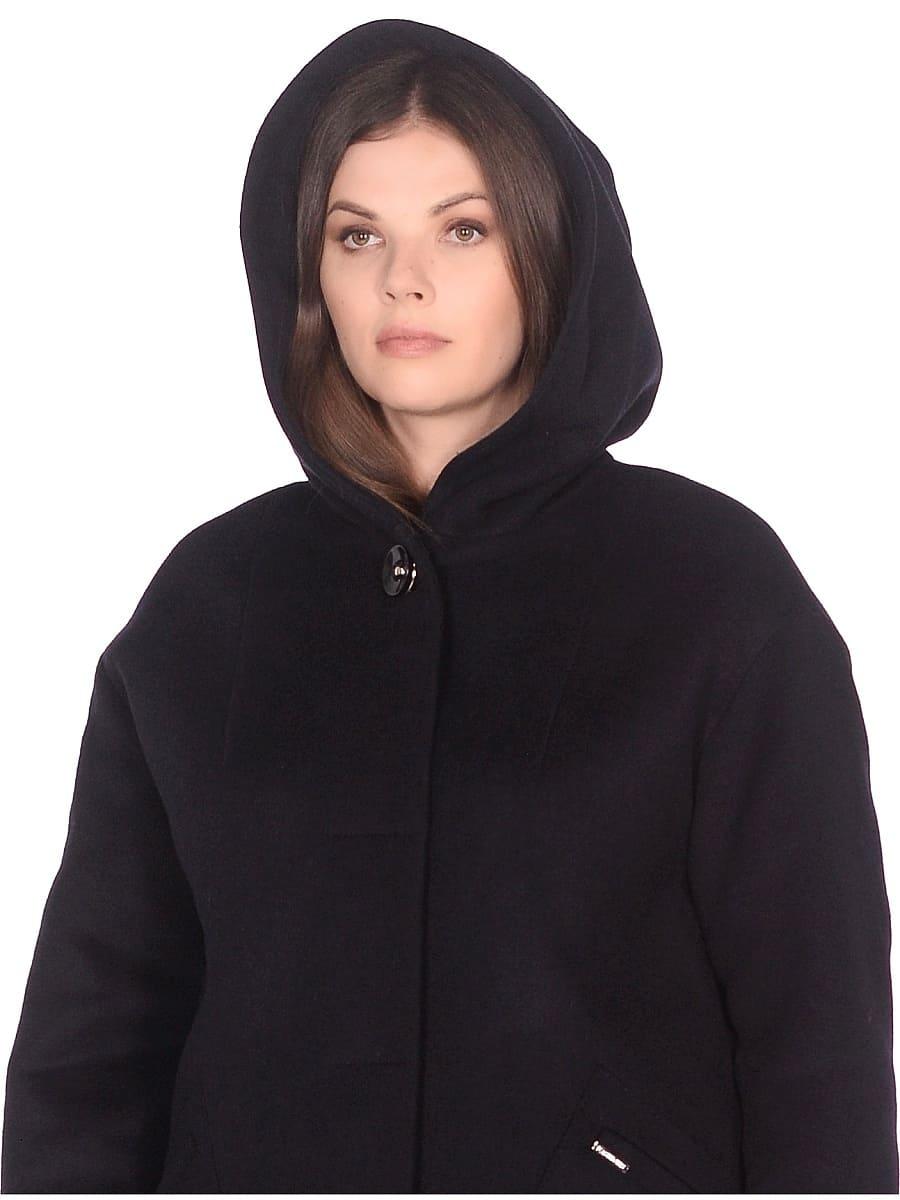 Женское зимнее пальто hr-1012 синее фото-4