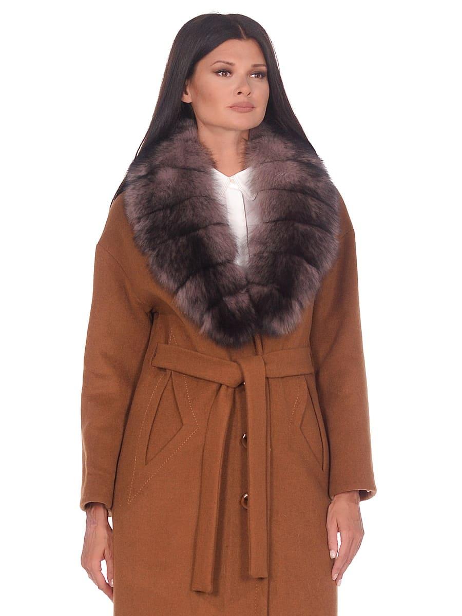 Женское зимнее пальто hr-1013 горчичное фото-2