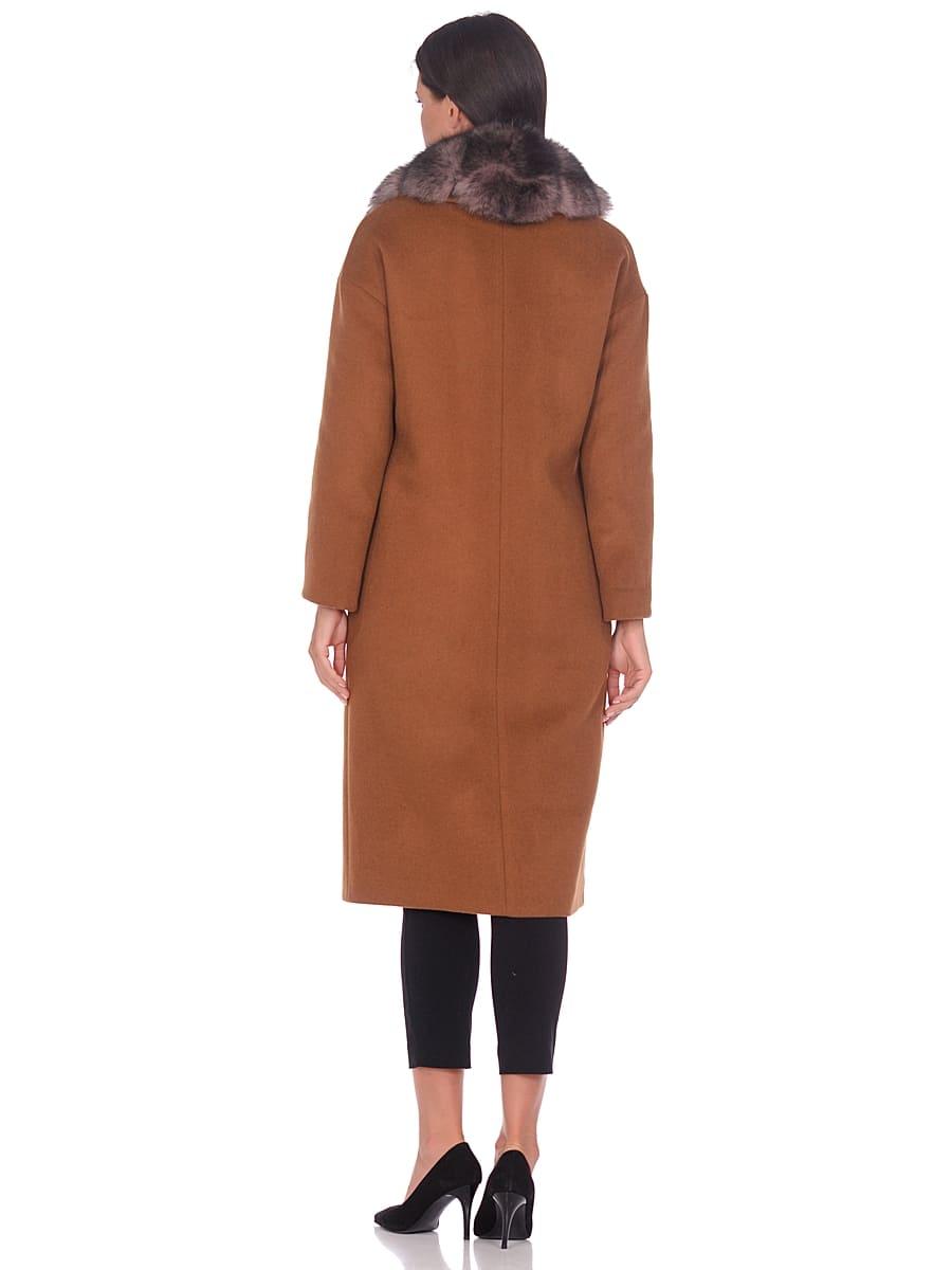 Женское зимнее пальто hr-1013 горчичное фото-3
