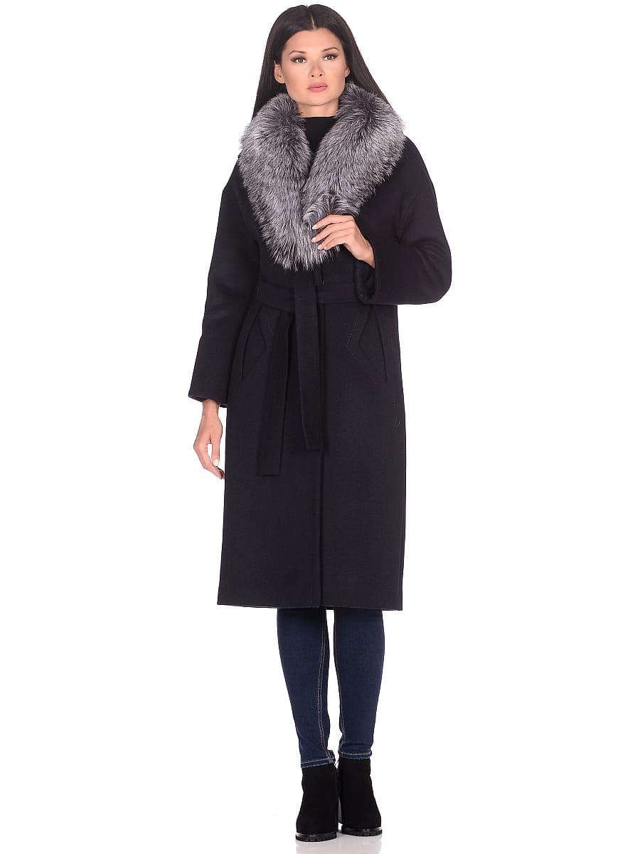 Женское зимнее пальто hr-1013 синее фото-1