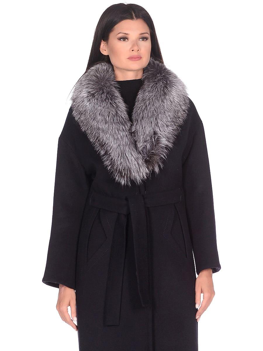 Женское зимнее пальто hr-1013 синее фото-2