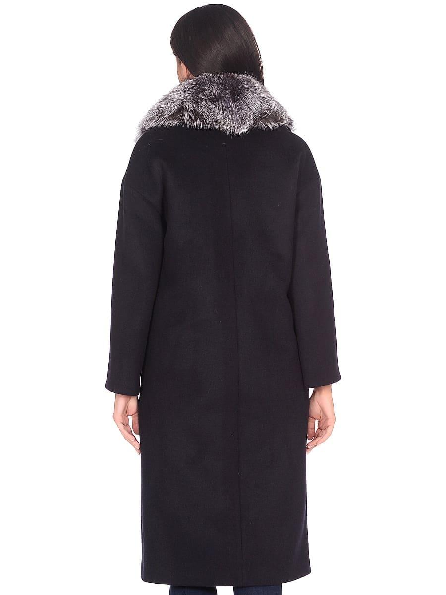Женское зимнее пальто hr-1013 синее фото-3