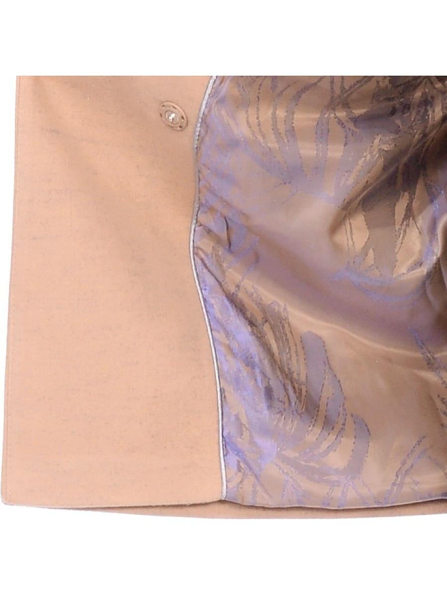Женское зимнее пальто hr-1014 бежевое фото-4