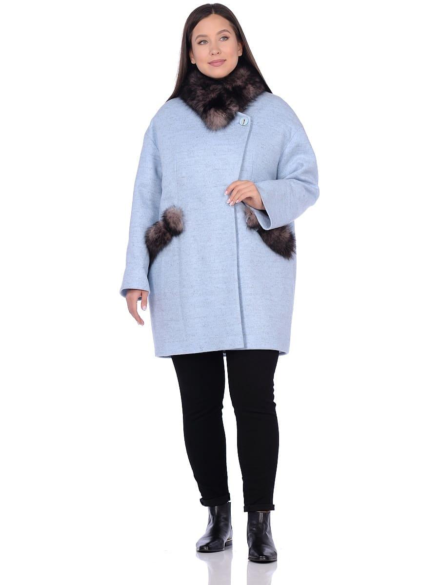 Женское зимнее пальто hr-1014 голубое фото-1