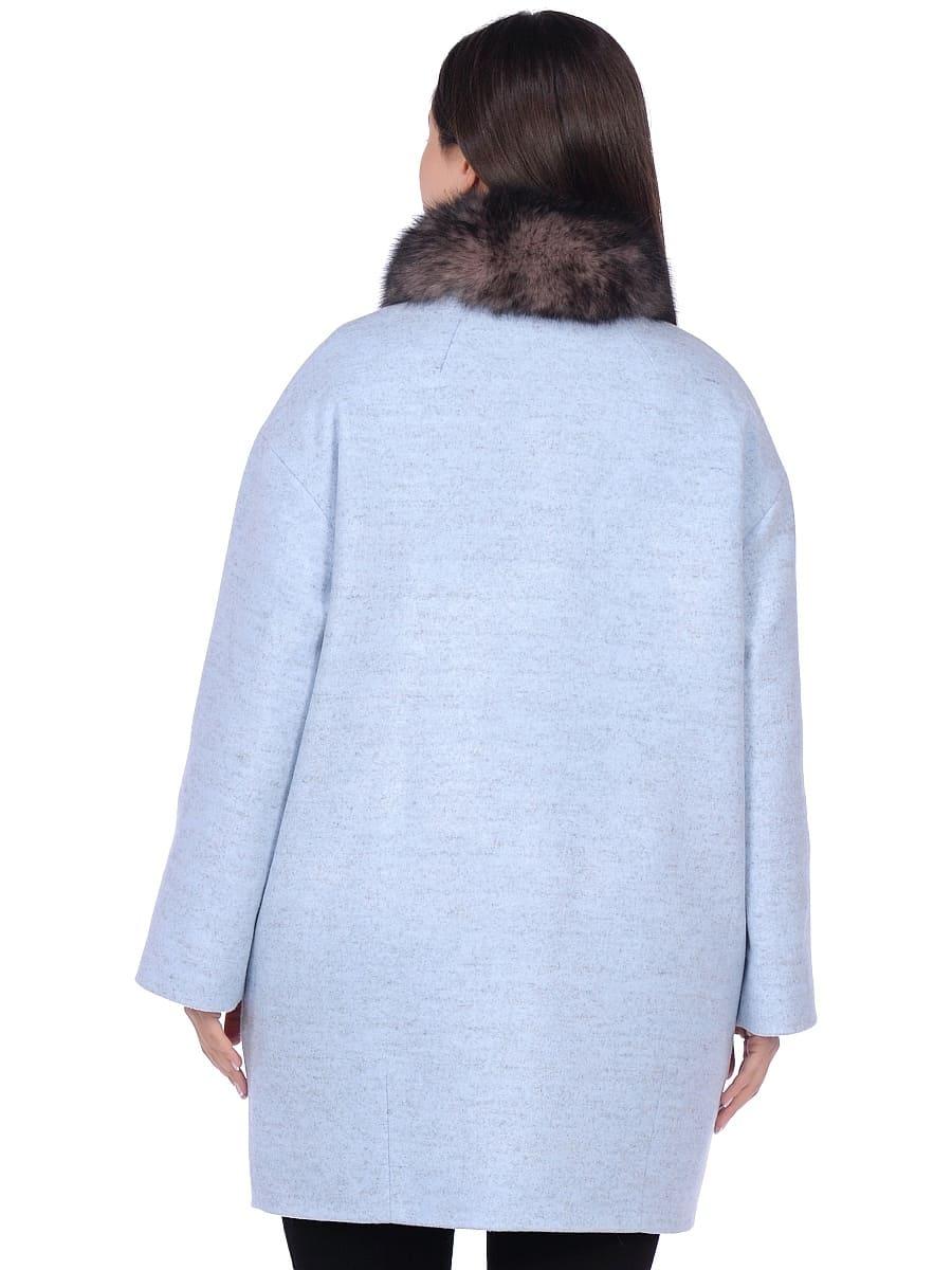 Женское зимнее пальто hr-1014 голубое фото-3