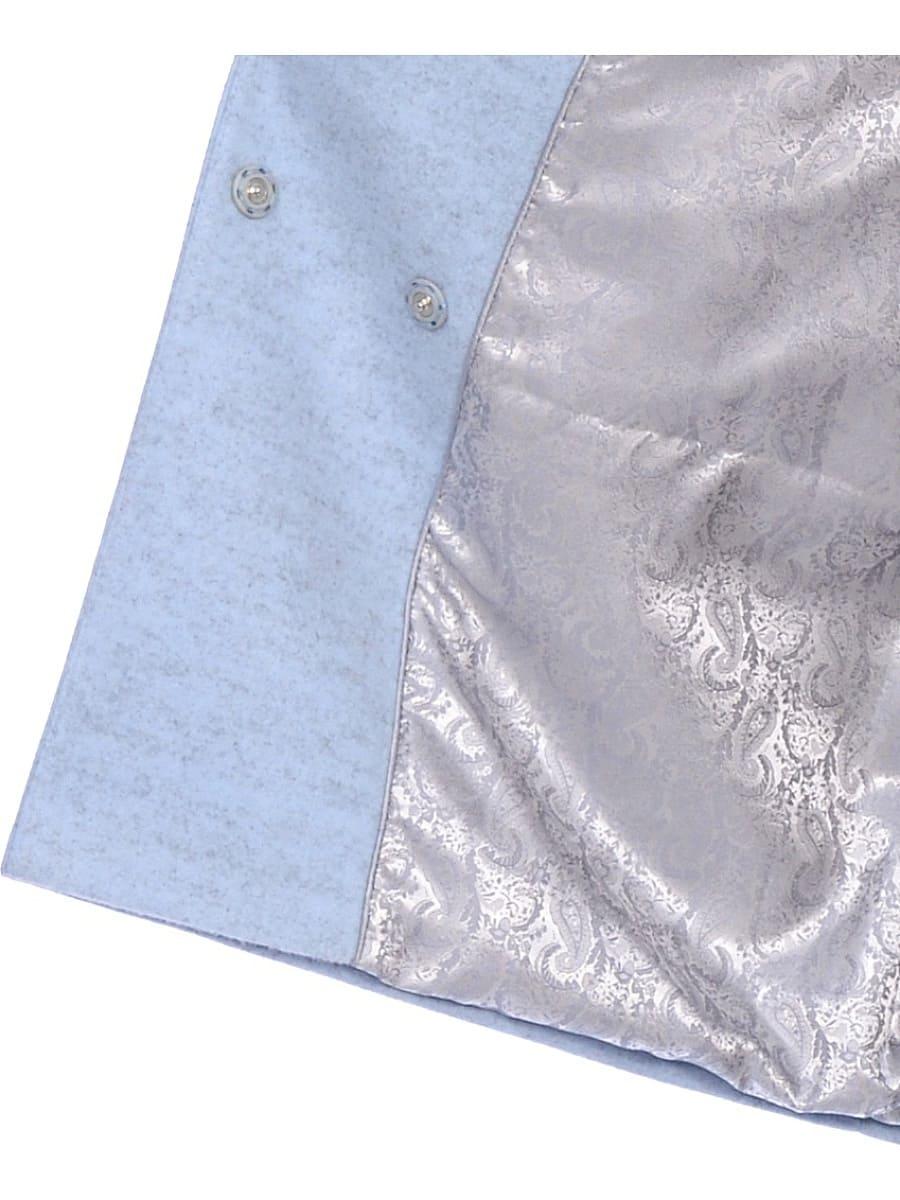 Женское зимнее пальто hr-1014 голубое фото-4