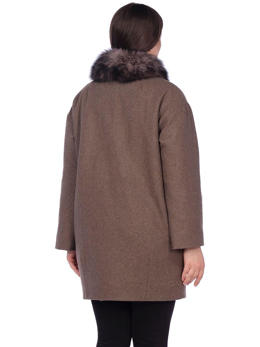 Женское зимнее пальто hr-1014 коричневое фото-3