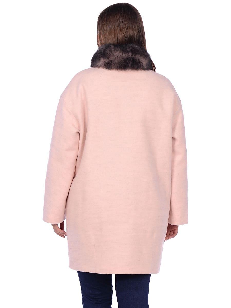 Женское зимнее пальто hr-1014 розовое фото-3