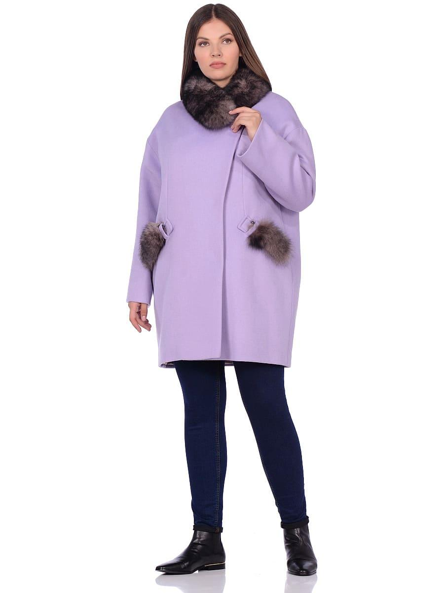 Женское зимнее пальто hr-1014 сиреневое фото-1