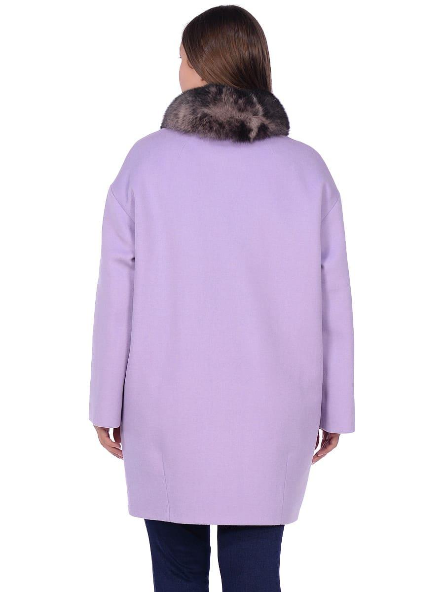 Женское зимнее пальто hr-1014 сиреневое фото-3