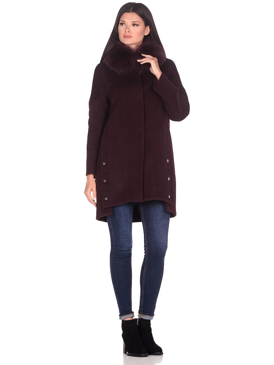 Женское зимнее пальто hr-1016 бордовое фото-1