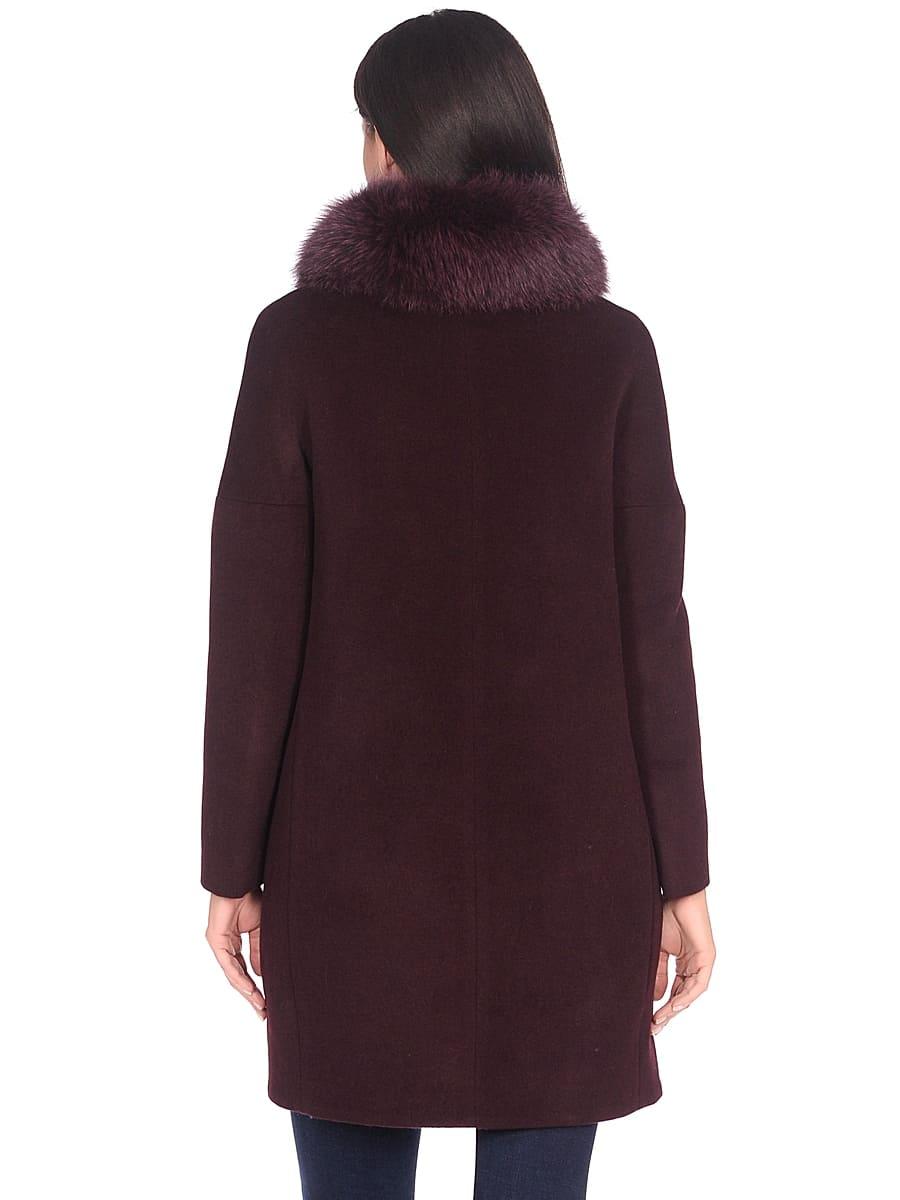 Женское зимнее пальто hr-1016 бордовое фото-3