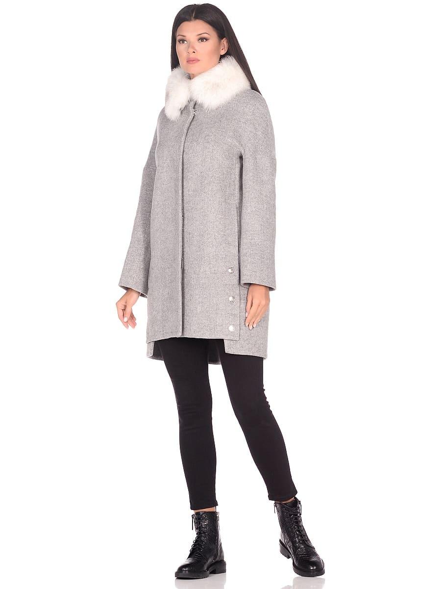 Женское зимнее пальто hr-1016 светло-серое фото-1