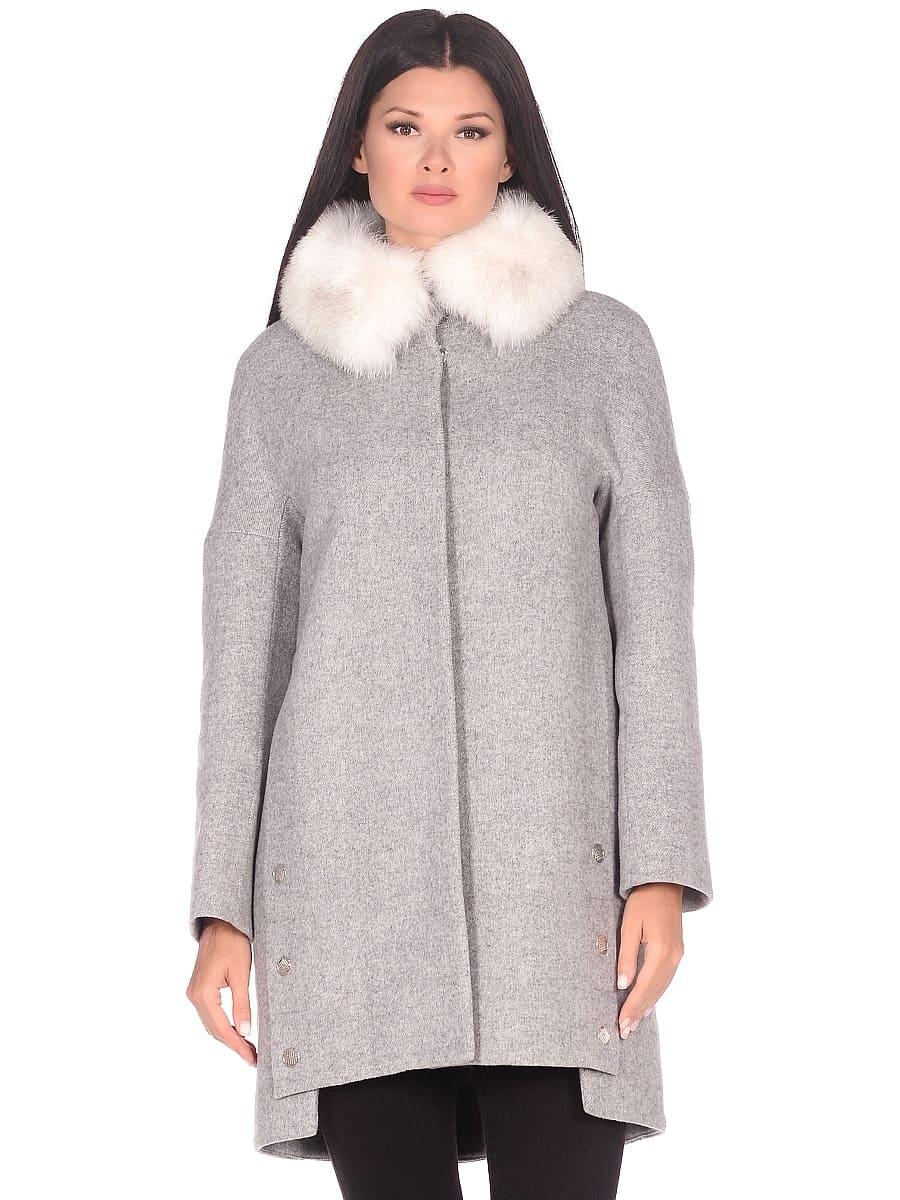 Женское зимнее пальто hr-1016 светло-серое фото-2