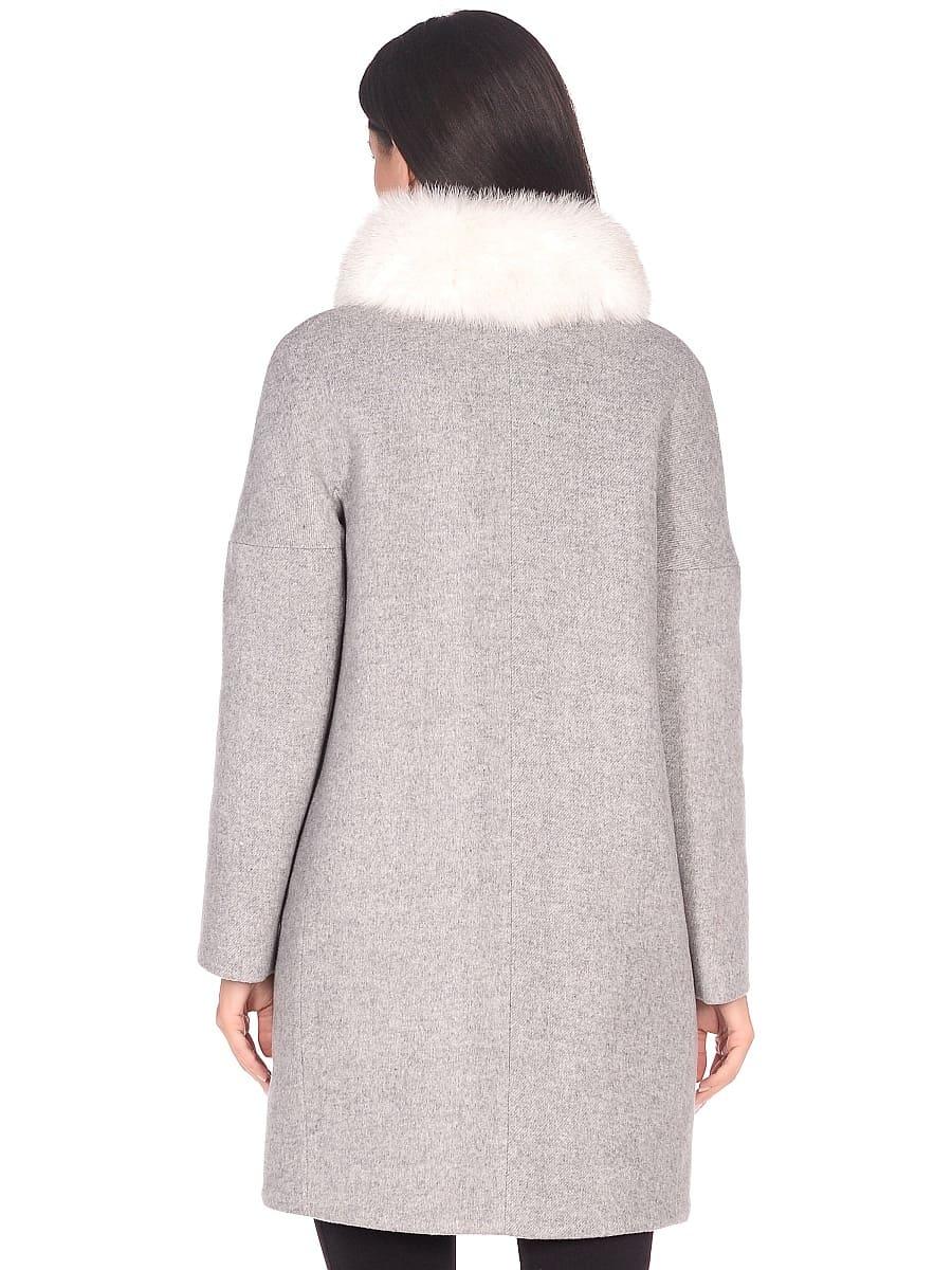 Женское зимнее пальто hr-1016 светло-серое фото-3
