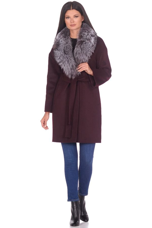 Женское зимнее пальто hr-1017 коричневое фото-1