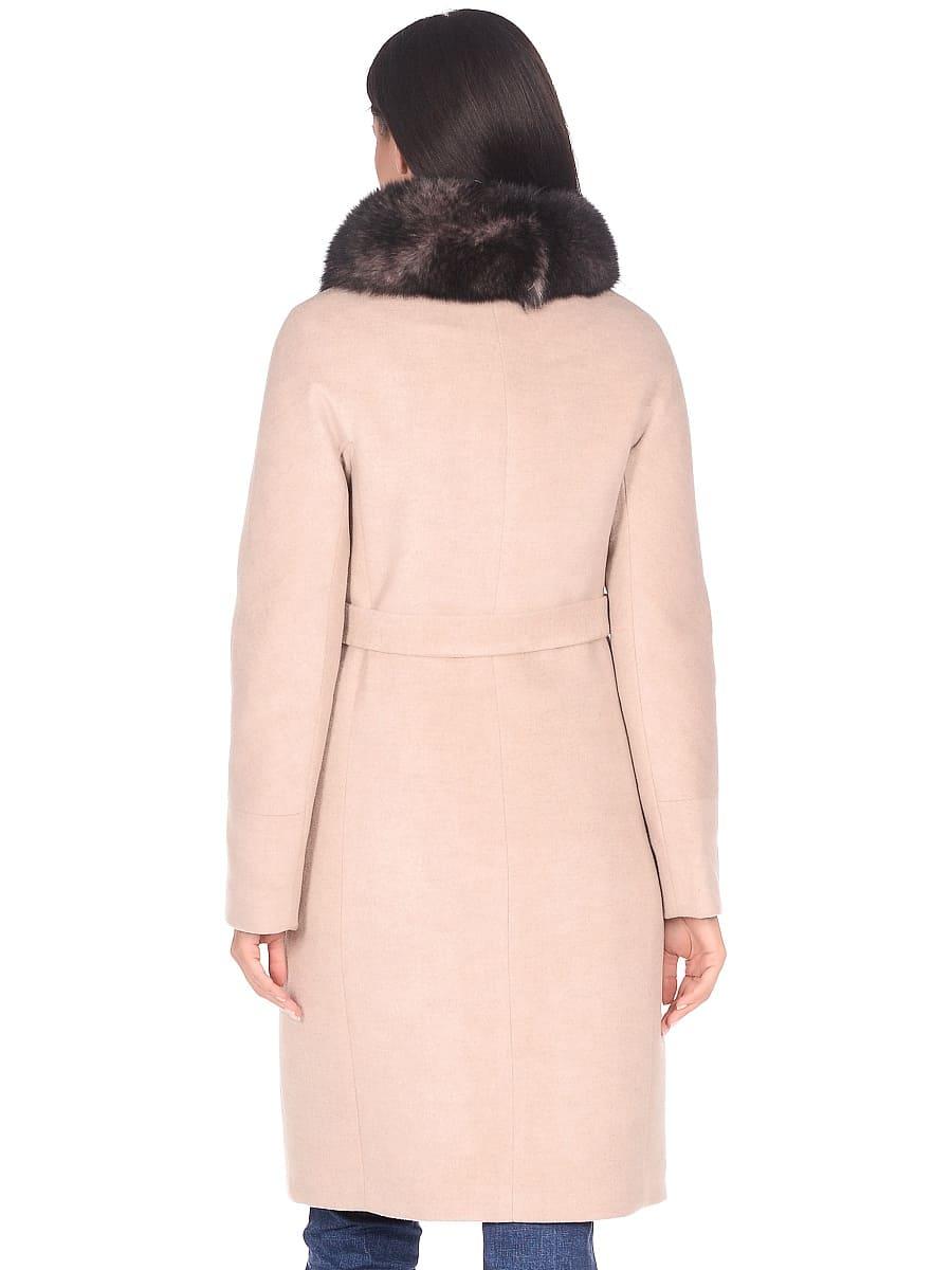 Женское зимнее пальто hr-1018 бежевое фото-3