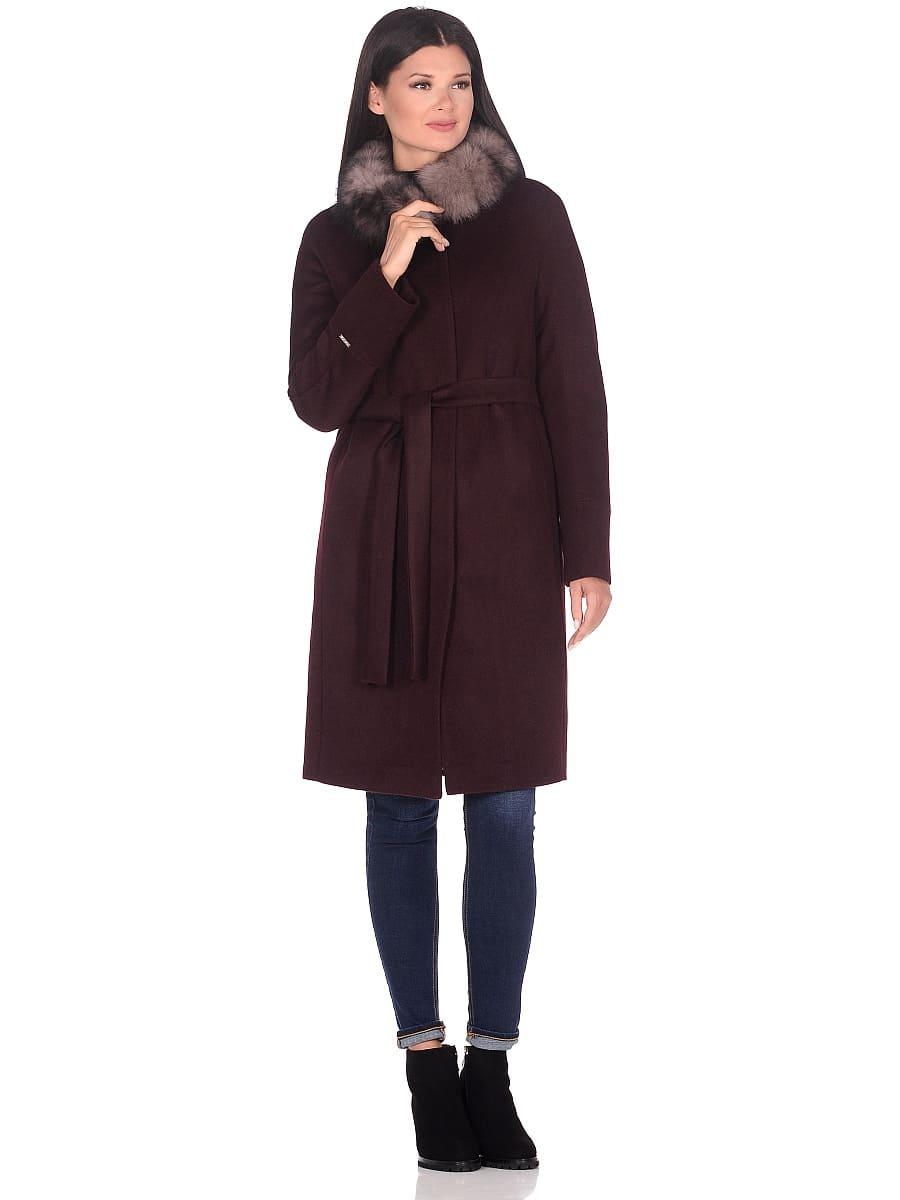 Женское зимнее пальто hr-1018 бордовое фото-1
