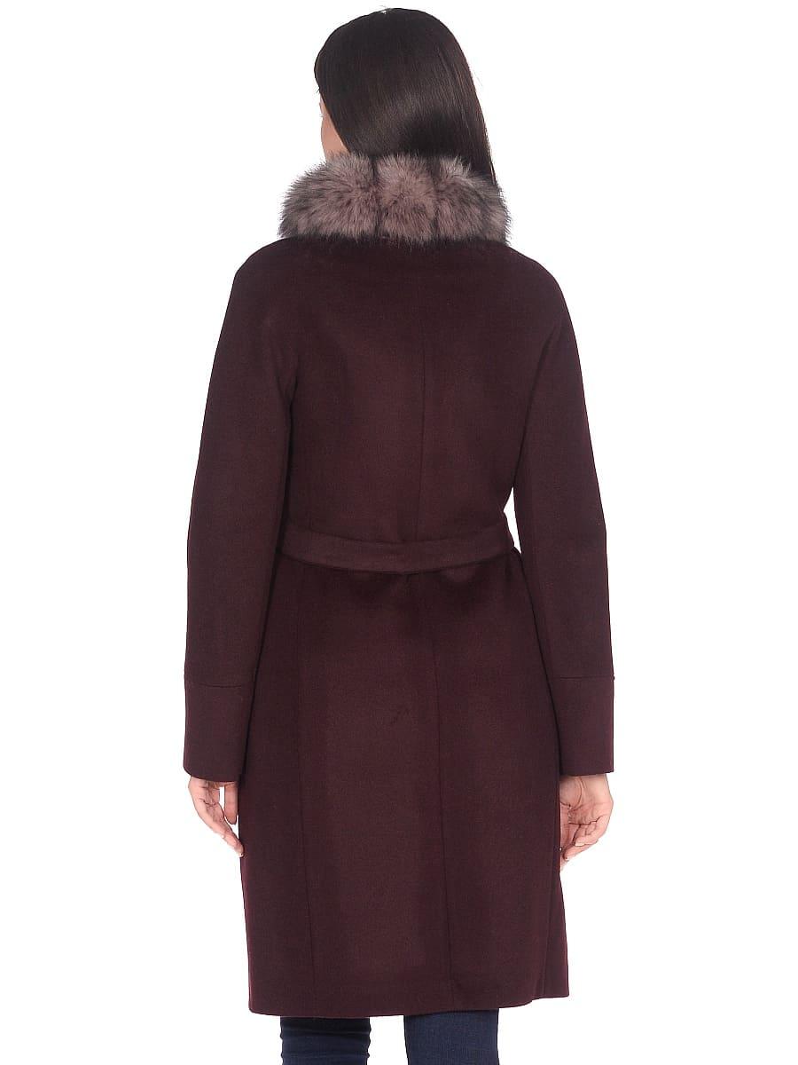 Женское зимнее пальто hr-1018 бордовое фото-3
