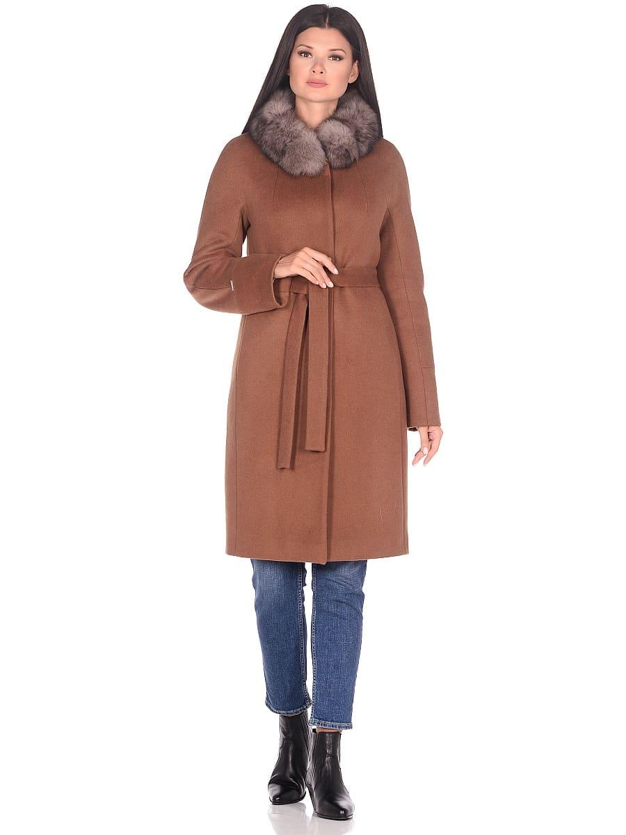 Женское зимнее пальто hr-1018 коричневое фото-1