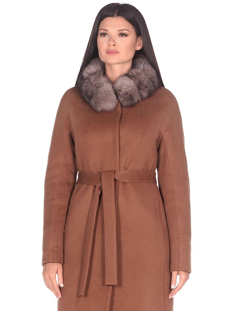 Женское зимнее пальто hr-1018 коричневое фото-2