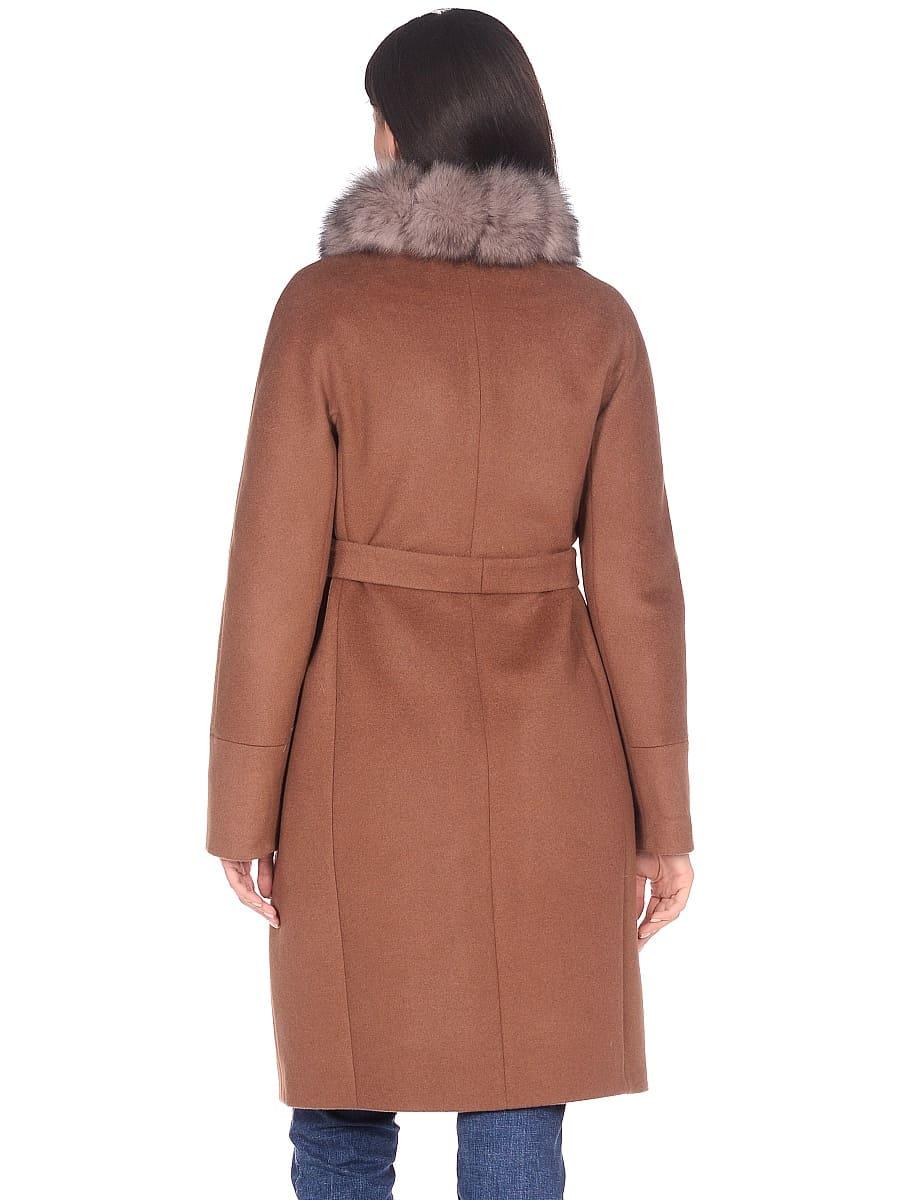 Женское зимнее пальто hr-1018 коричневое фото-3