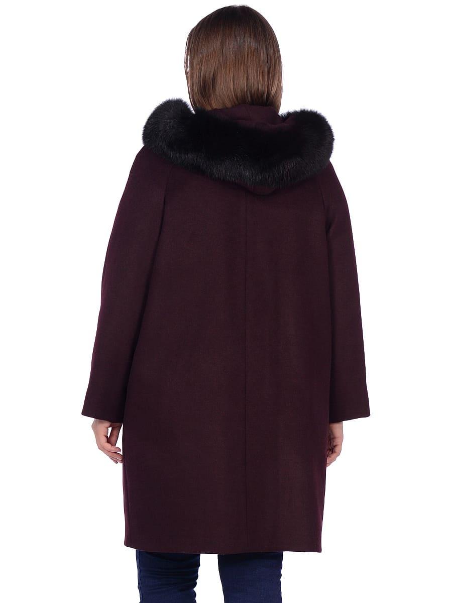 Женское зимнее пальто hr-1019 бордовое фото-3