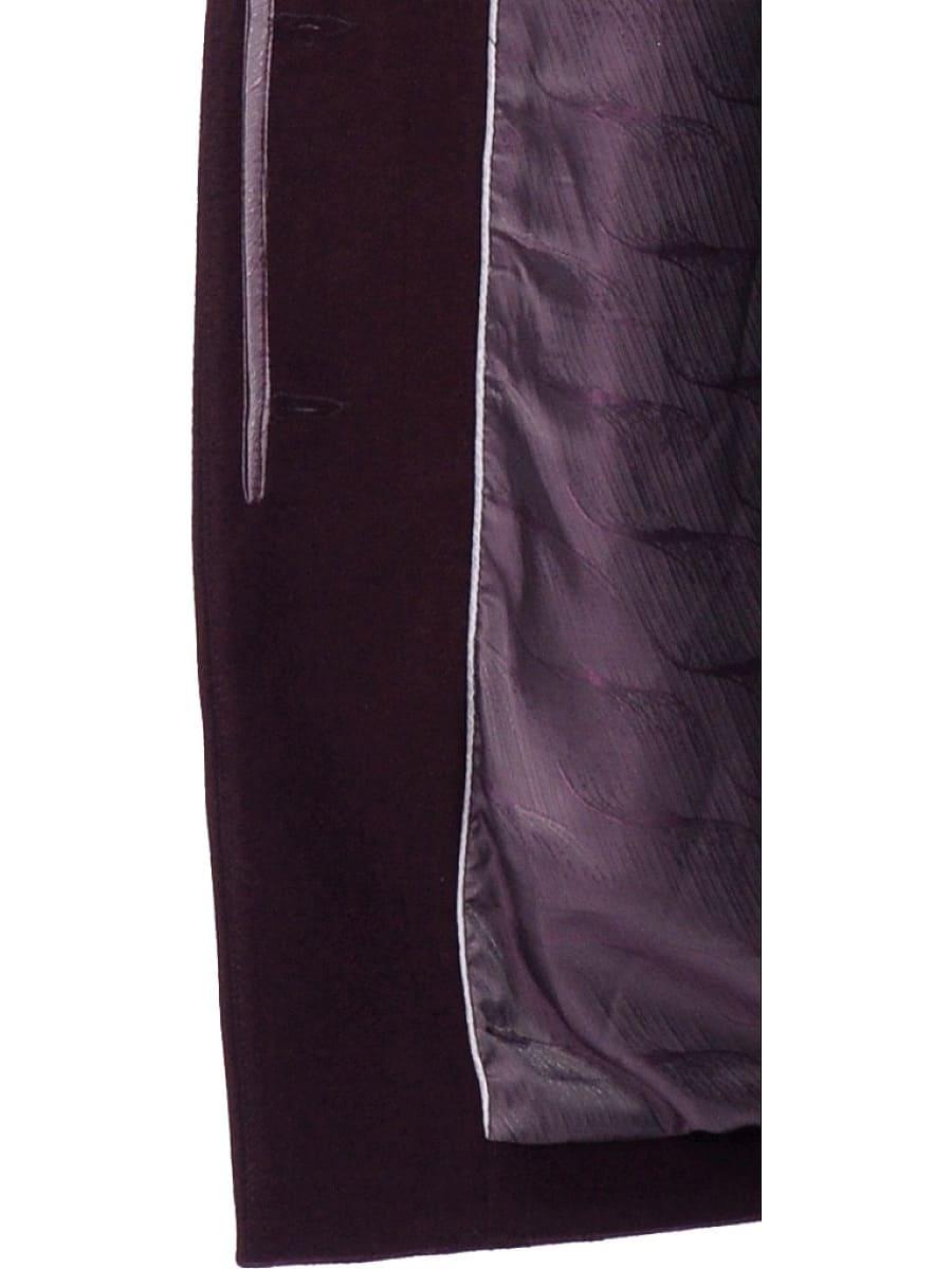 Женское зимнее пальто hr-1019 бордовое фото-5
