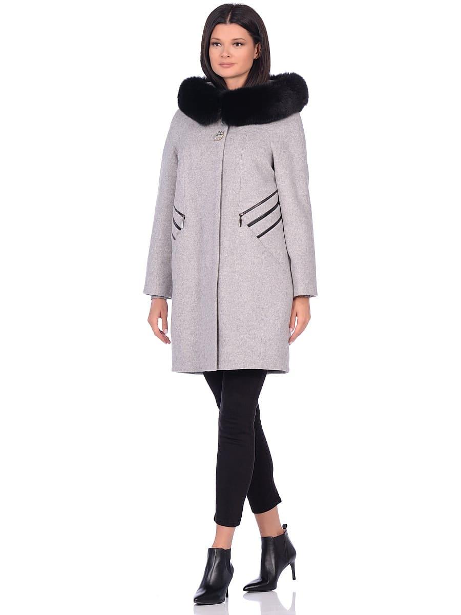 Женское зимнее пальто hr-1019 светло-серое фото-1
