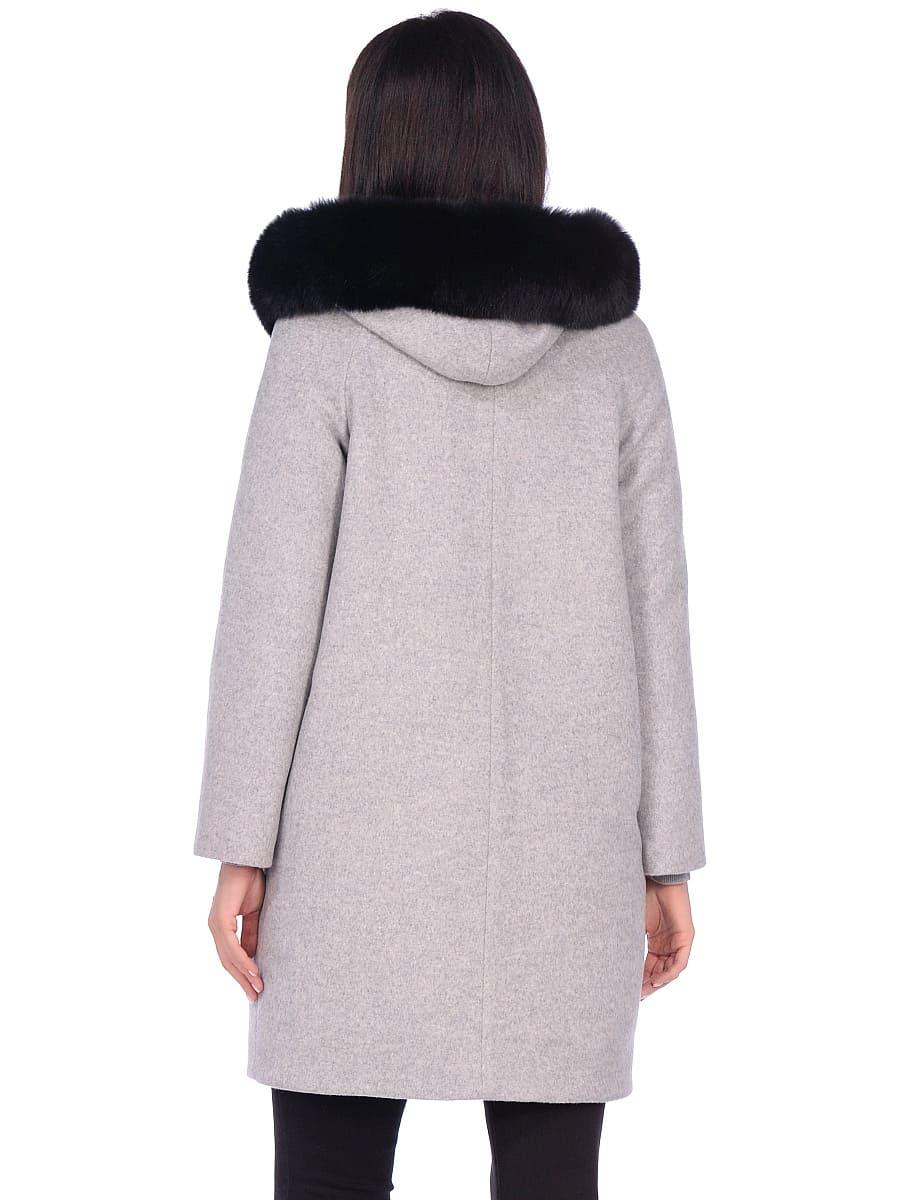 Женское зимнее пальто hr-1019 светло-серое фото-3
