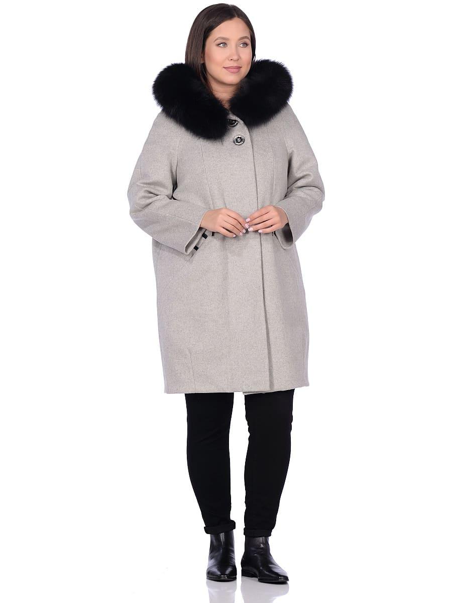 Женское зимнее пальто hr-1019 серое фото-1