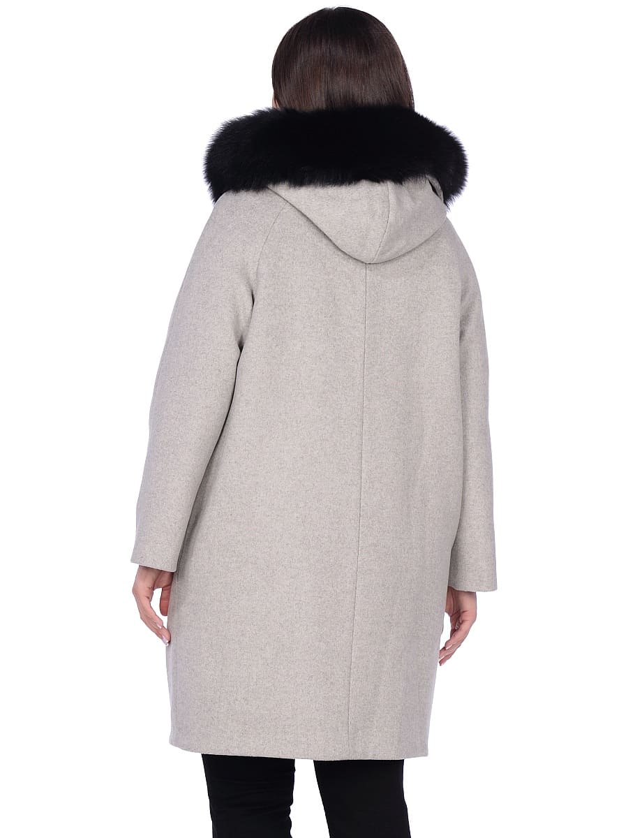 Женское зимнее пальто hr-1019 серое фото-3
