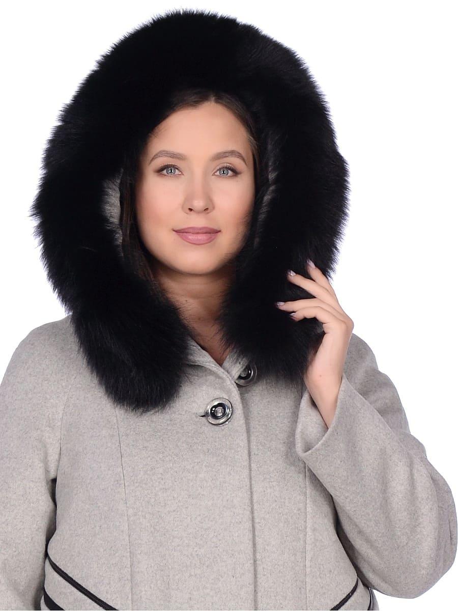 Женское зимнее пальто hr-1019 серое фото-4