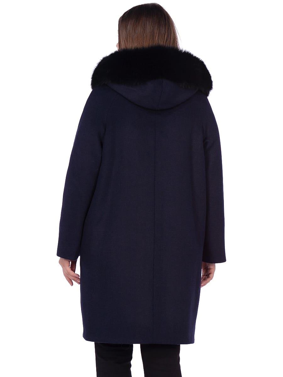 Женское зимнее пальто hr-1019 синее фото-3