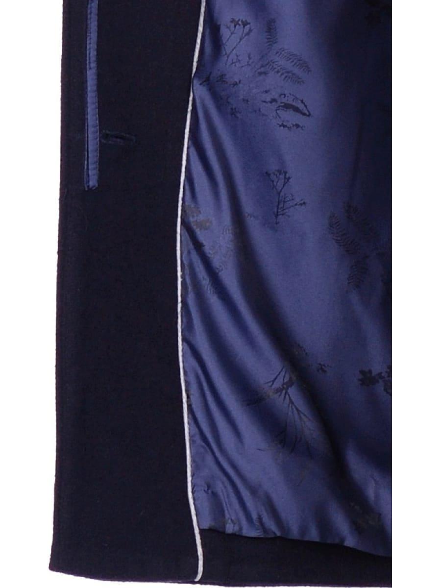 Женское зимнее пальто hr-1019 синее фото-5