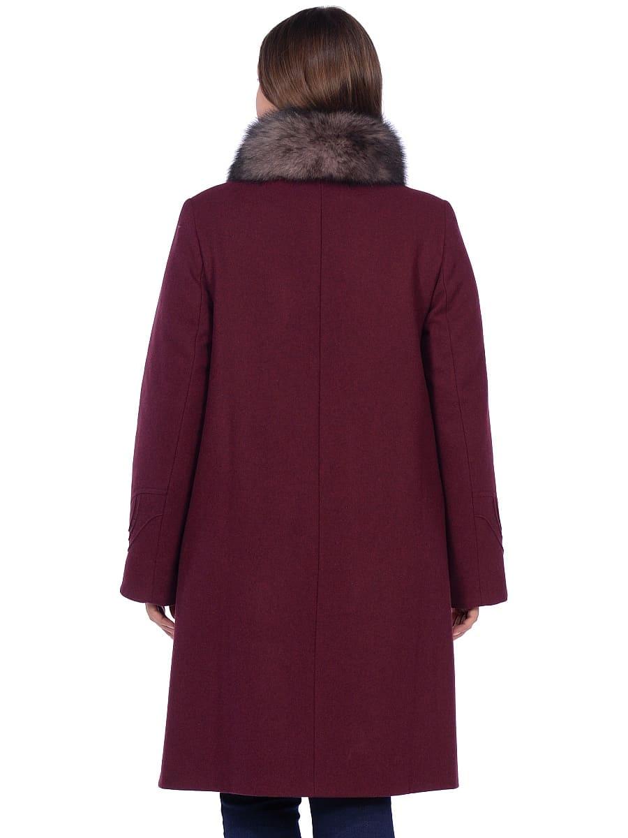Женское зимнее пальто hr 1020 бордовое фото-3