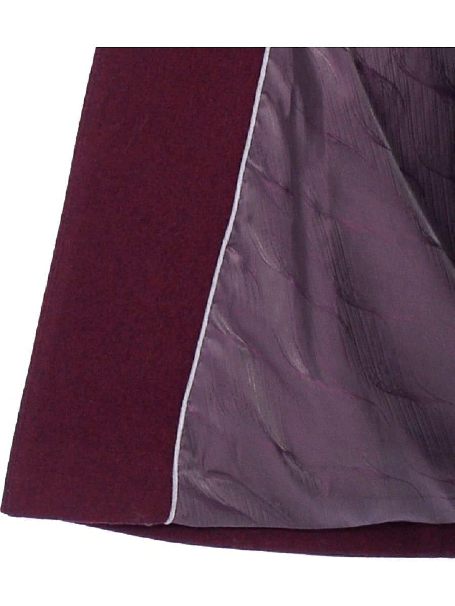 Женское зимнее пальто hr 1020 бордовое фото-4