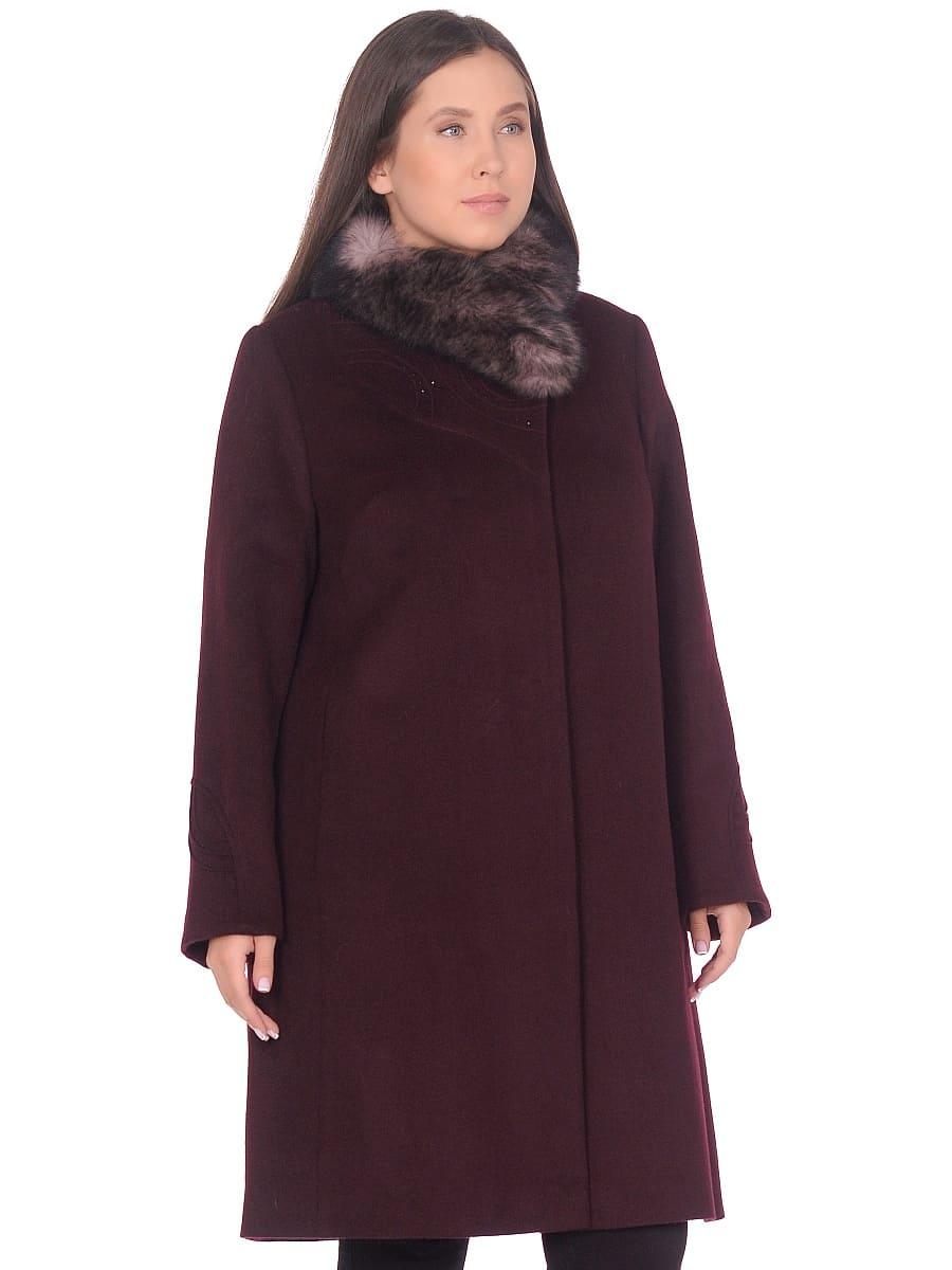 Женское зимнее пальто hr 1020 винное фото-2