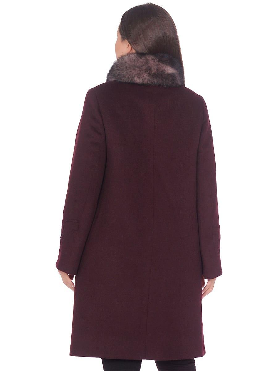 Женское зимнее пальто hr 1020 винное фото-3