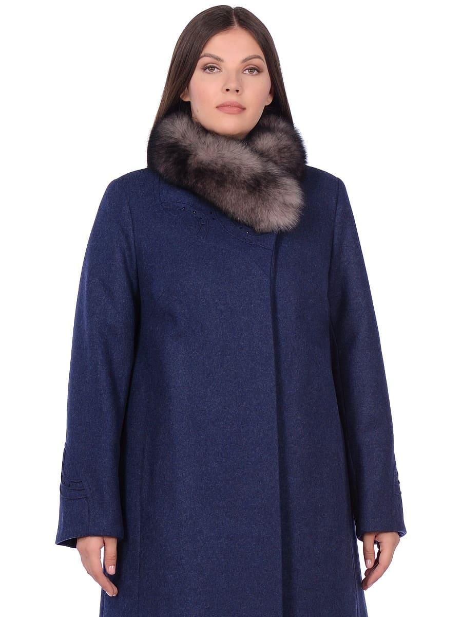 Женское зимнее пальто hr 1020 синее фото-2