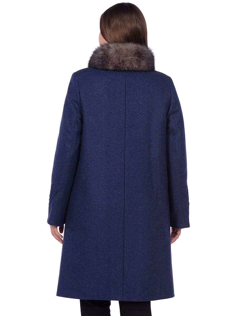 Женское зимнее пальто hr 1020 синее фото-3
