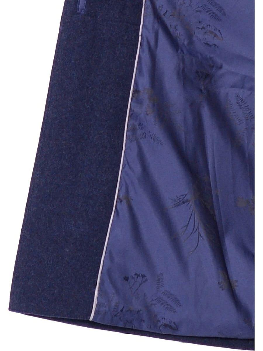 Женское зимнее пальто hr 1020 синее фото-4