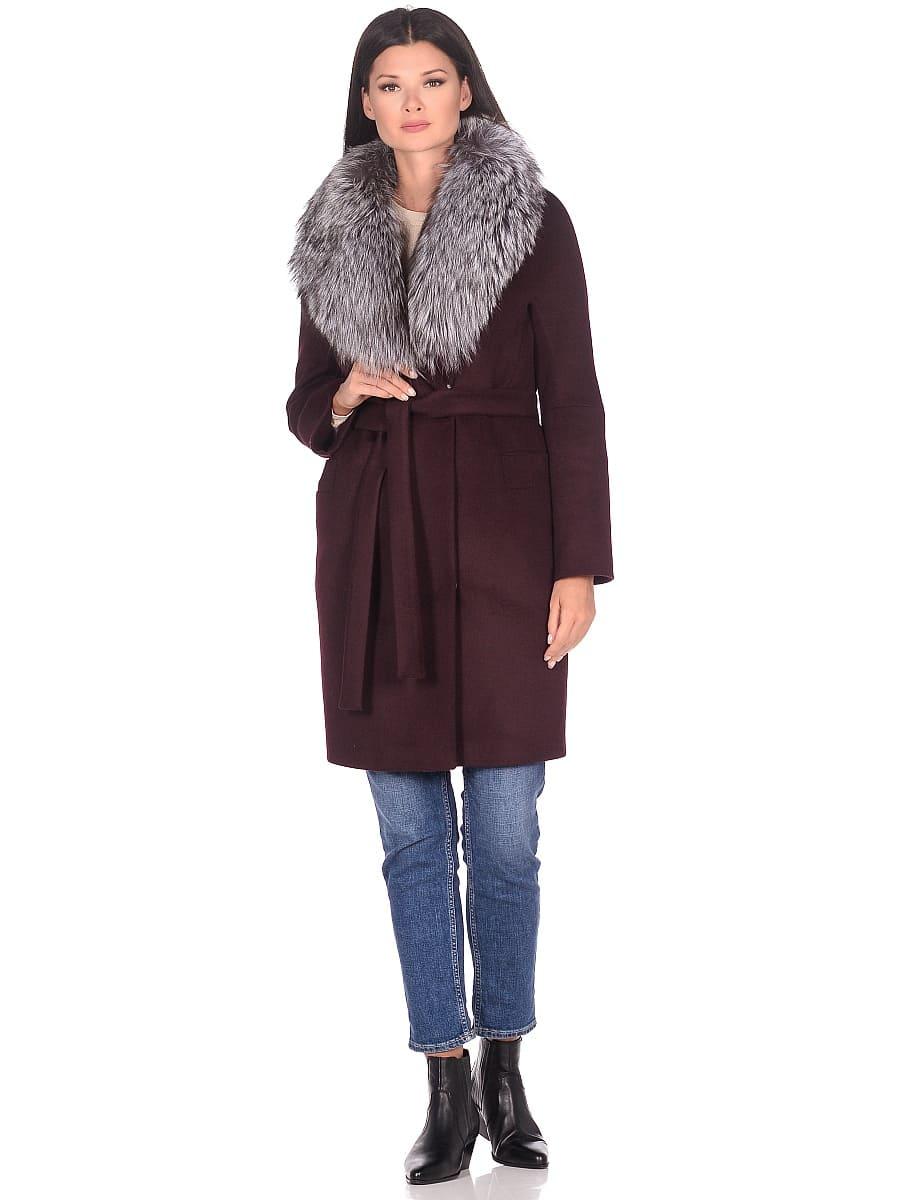 Женское зимнее пальто hr-1021 бордовое фото-1