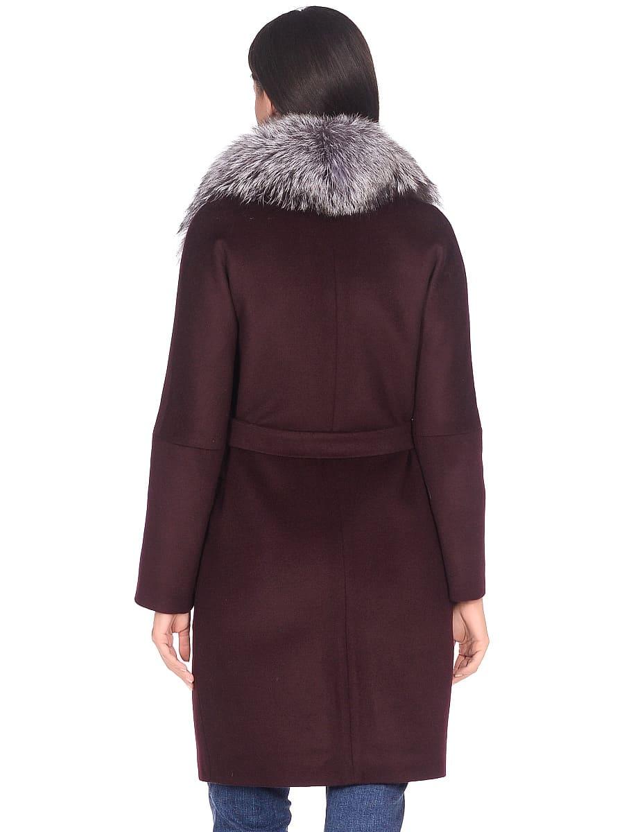 Женское зимнее пальто hr-1021 бордовое фото-3