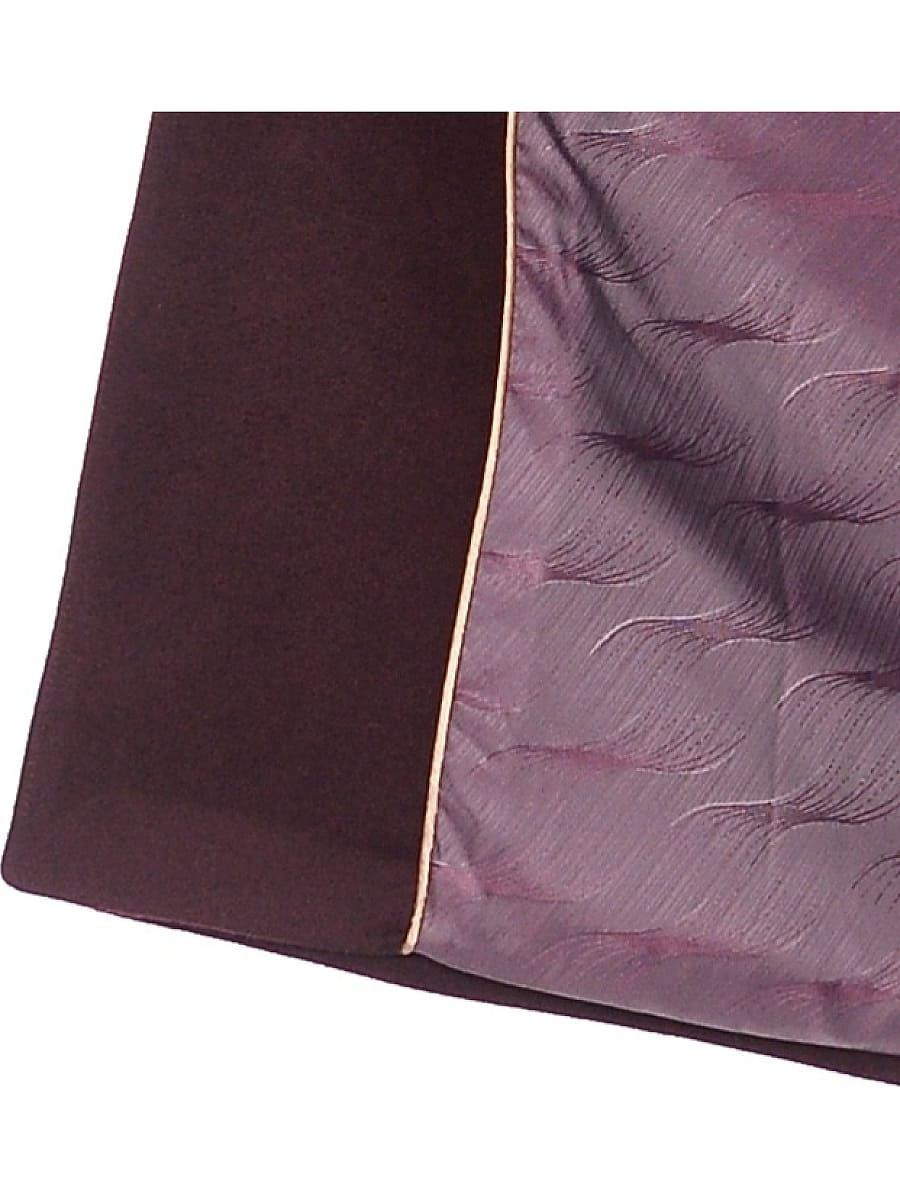Женское зимнее пальто hr-1021 бордовое фото-4
