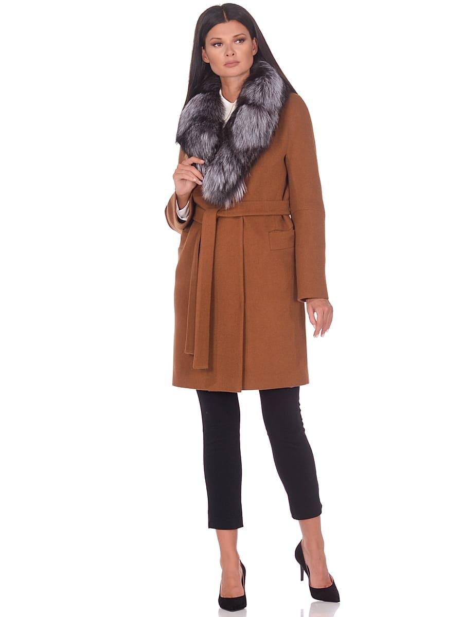 Женское зимнее пальто hr-1021 коричневое фото-1