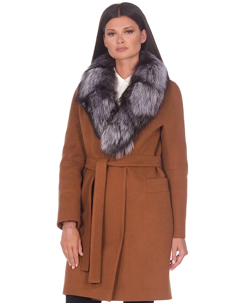 Женское зимнее пальто hr-1021 коричневое фото-2