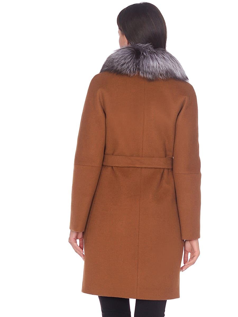 Женское зимнее пальто hr-1021 коричневое фото-3